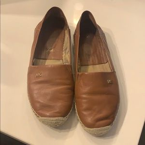 Michael Kors Brown Leather Espadrilles